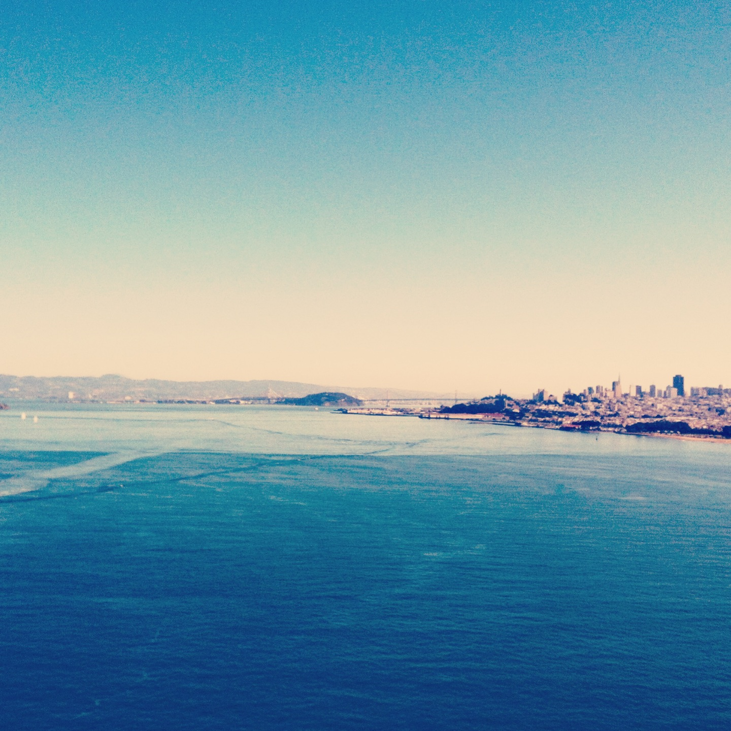 SF from a distance on a pretty day.