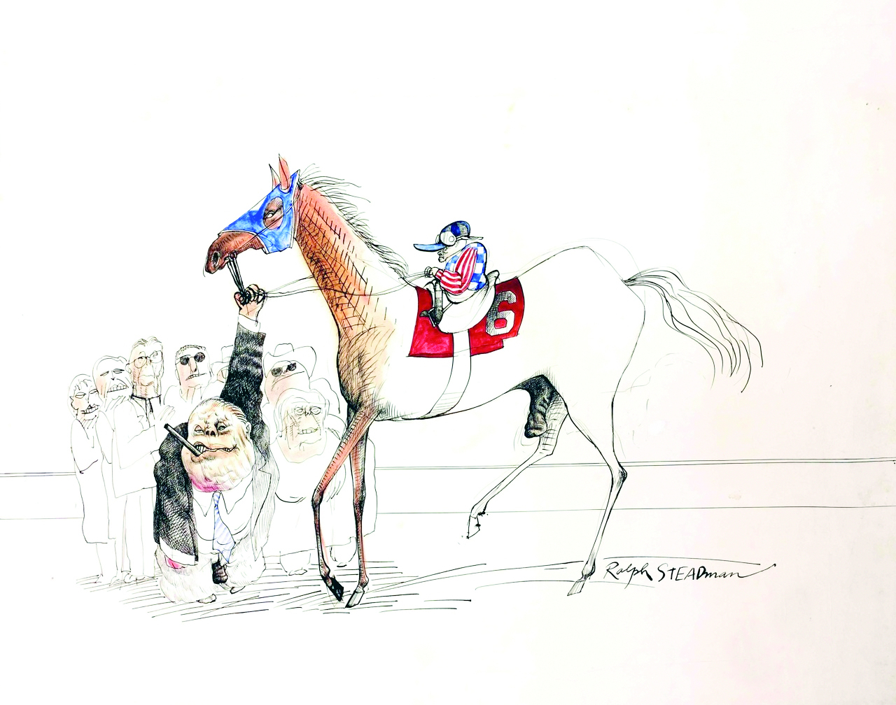Hunter S. Thompson Kentucky Derby art by Ralph Steadman (courtesy of SF Jazz)