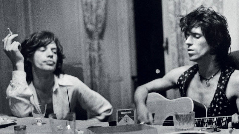 Mick Jagger and Keith Richards in all their sexy, '70s glory.