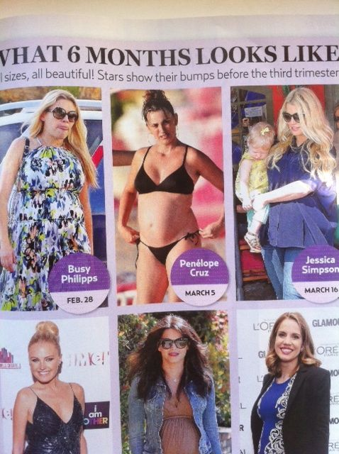 They call these women 'beautiful' in this spread, but they really know we are dying to pick apart what pregnancy can do to someone like Penelope Cruz.