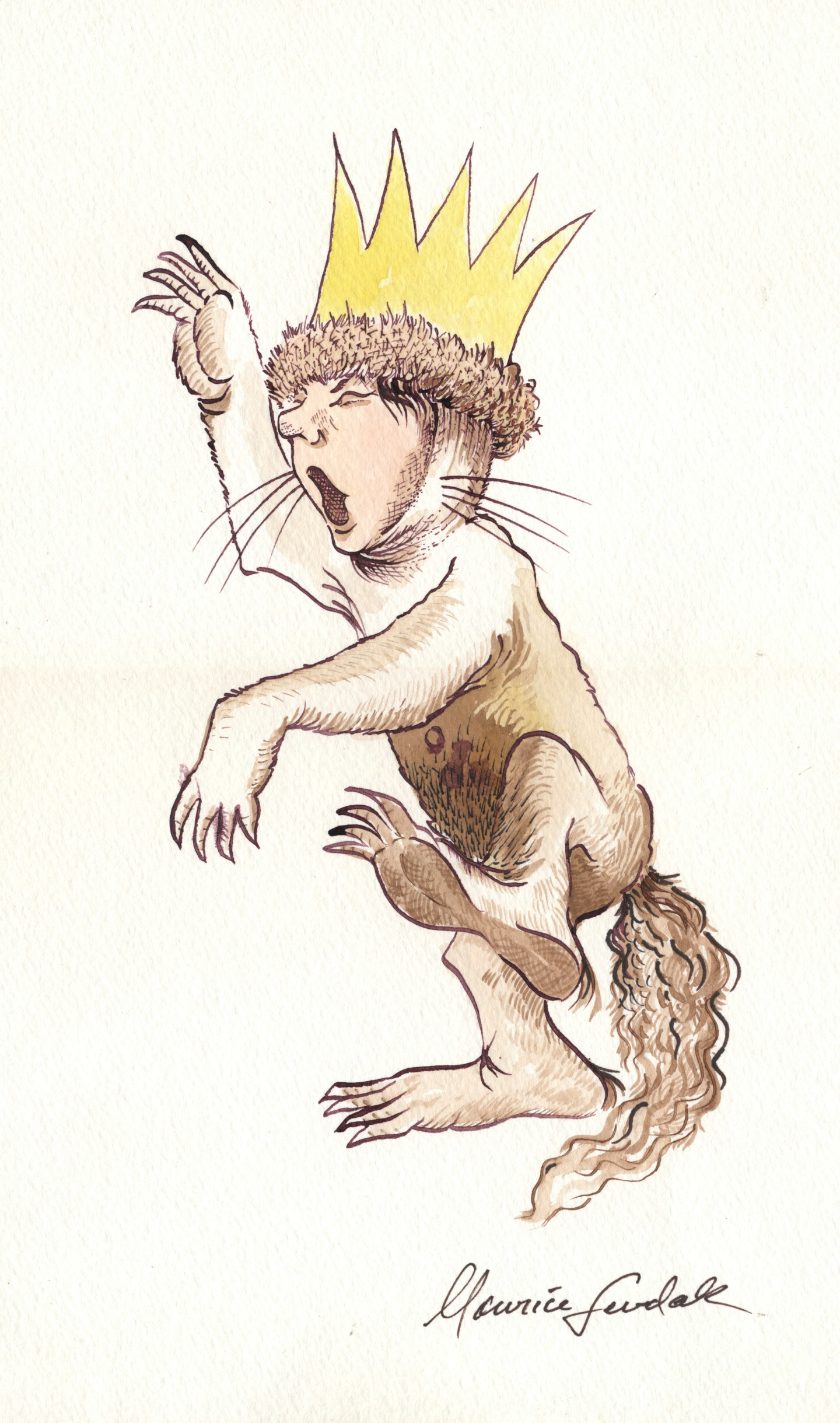 Illustration of King Max Sendak created for a fan
