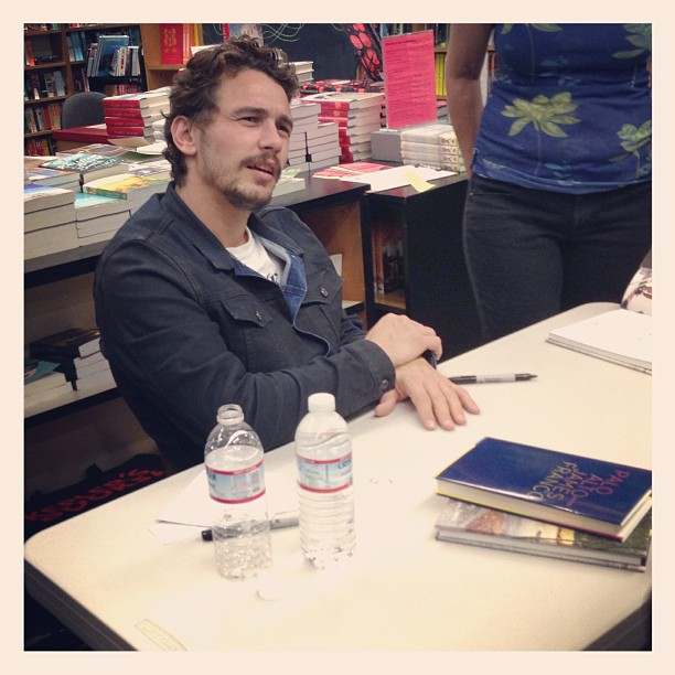 James Franco at a recent book signing in Palo Alto. Image courtesy of Laura Soriano