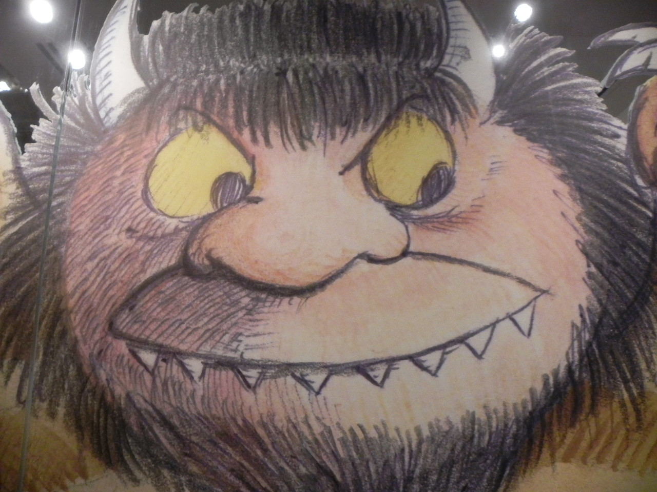 A close-up of a Wild Thing at the Maurice Sendak Exhibit.