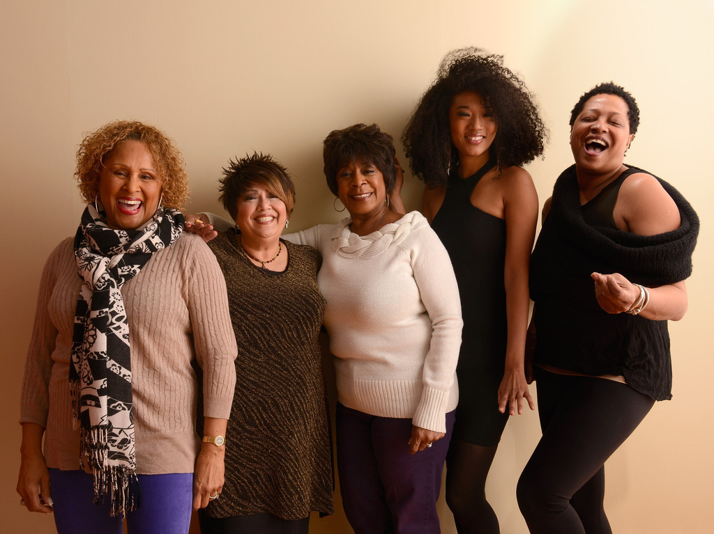 (L-R) Singers Darlene Love, Tata Vega, Merry Clayton, Judith Hill and Lisa Fischer pose for a portrait during the 2013 Sundance Film Festival at the Getty Images Portrait Studio at Village at the Lift on January 21, 2013 in Park City, Utah. Photo: Getty Images
