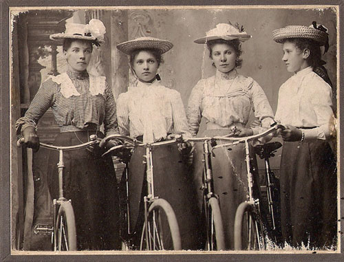 Girls & Their Vintage Bicycles (3)