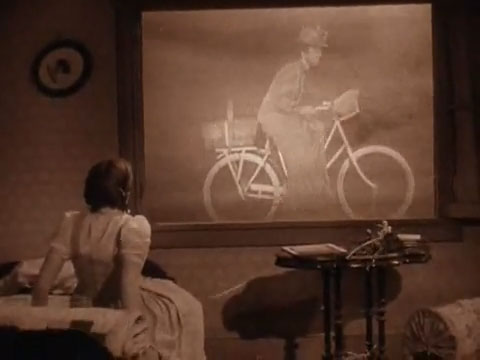 Miss Gulch On Her Bicycle Then Becomes A Witch Riding A