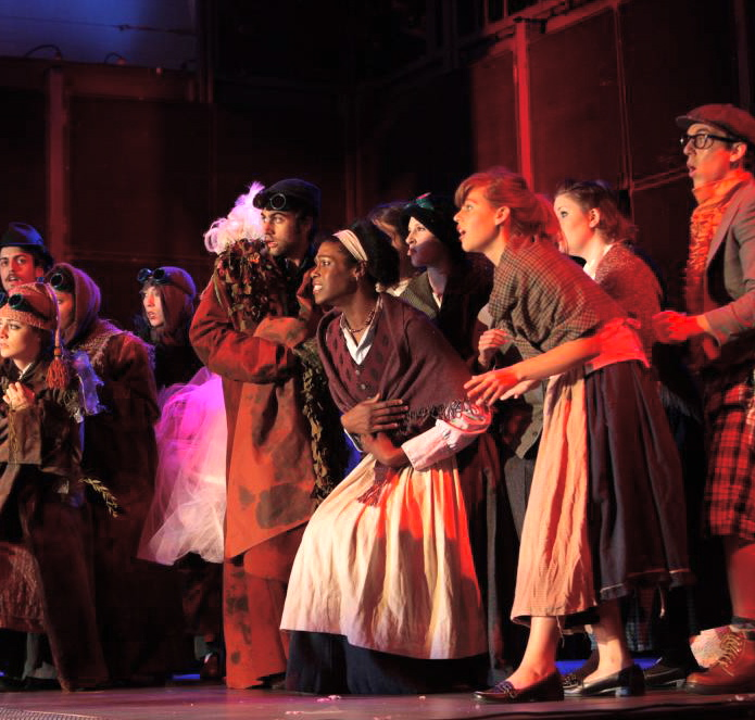 "Breanna Sinclairé, center, in a 2008 production of ""Platee"" by Rameau, courtesy of Breanna Sinclairé,"