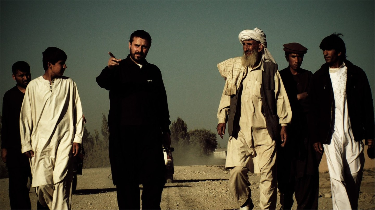 Jeremy Scahill in Afghanistan. Photo by Richard Rowley. Courtesy of IFC Films