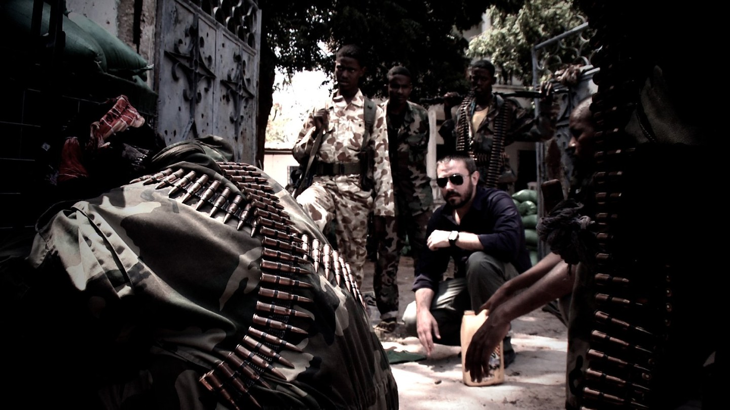"""Jeremy Scahill in Somalia making """"Dirty Wars"""" courtesy of IFC Films"""