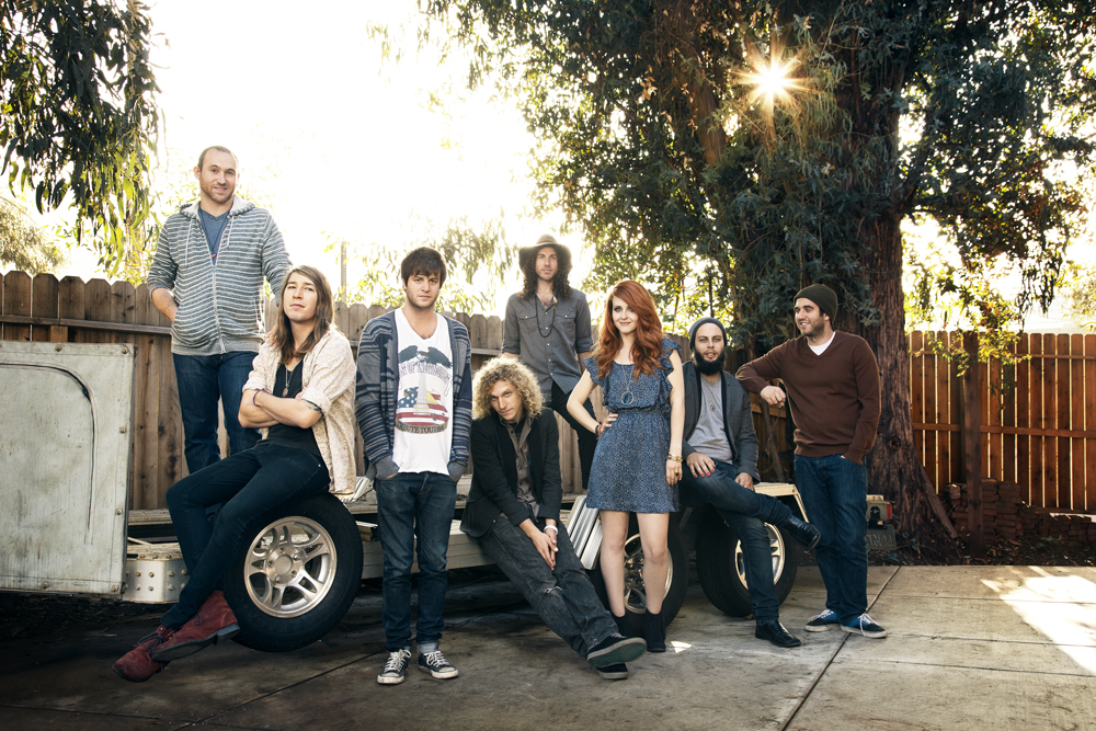 The eight-member band, The Mowgli's.