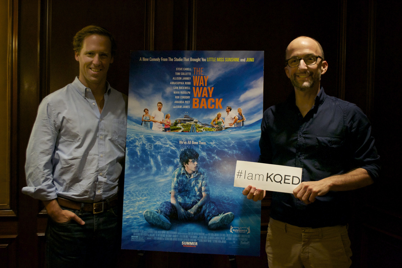 Nat Faxon (L) and Jim Rash (R) wrote and directed the new film, The Way, Way Back. Photo by Sara Bloomberg