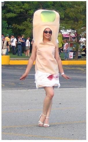 A disembodied toe costume, via lebowskifest.com