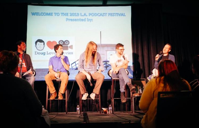Photo via Joel Mandelkorn for the Los Angeles Podcast Festival, from their Facebook page.