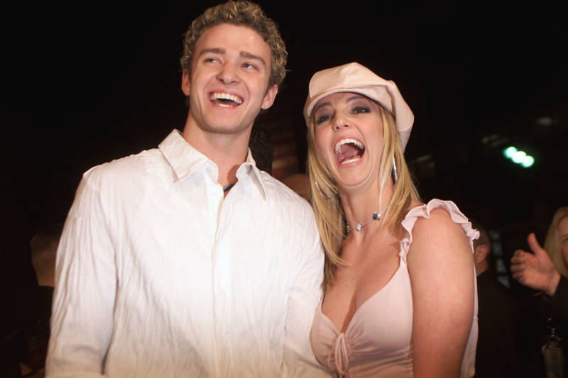 Britney and Justin at the premiere of 'Crossroads', 2002.