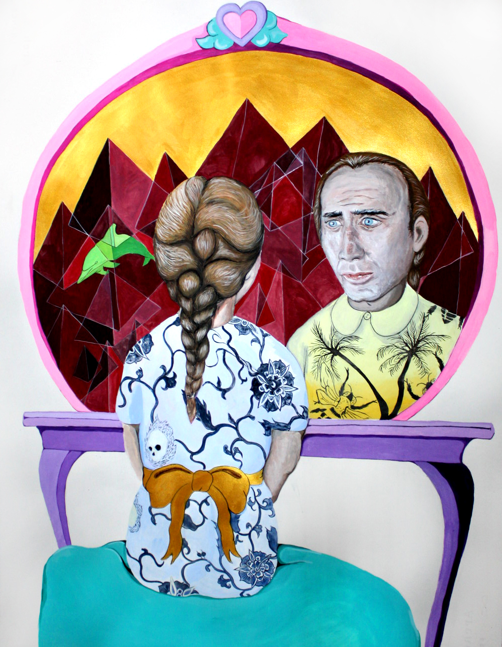 Marguerite Kalhor Nic Cage Painting