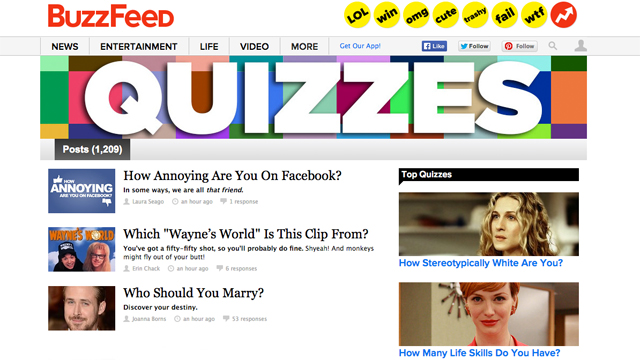 The BuzzFeed Quiz: Flash in the Pan or Force of Change?