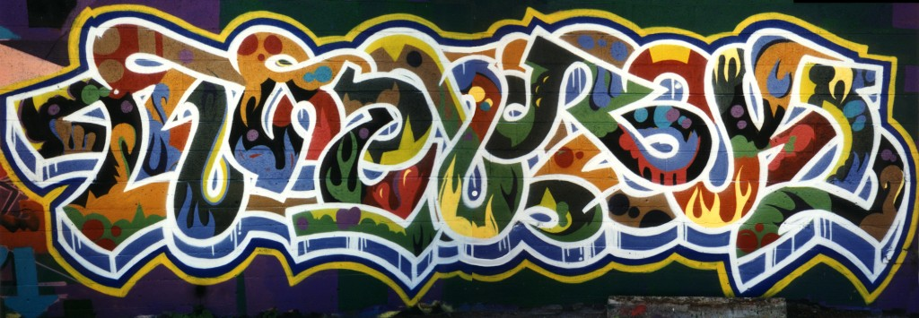 Early graffiti work by Shawn Hatfield (Twerk) in San Francisco from 1994