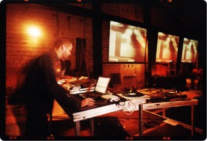 Shawn Hatfield, aka Twerk, performing at the Transmediale Festival on February 16, 2002
