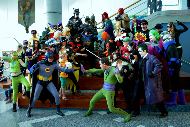 DC heroes vs. villains at BIG WOW! Comicfest 2014. Photo: RyC - Behind The Lens, Flickr