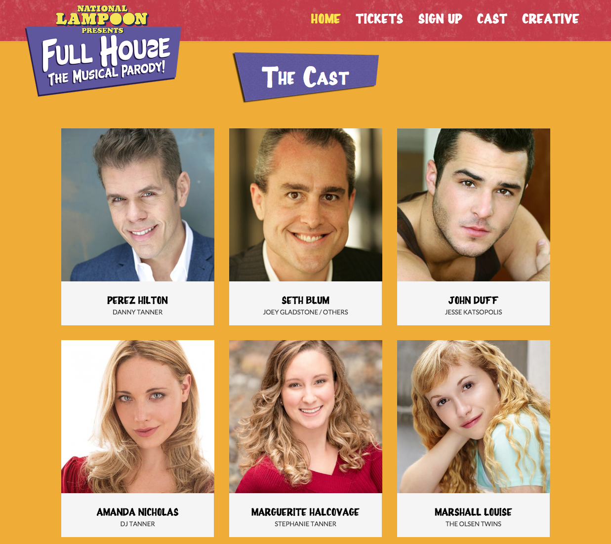 full house musical parody cast