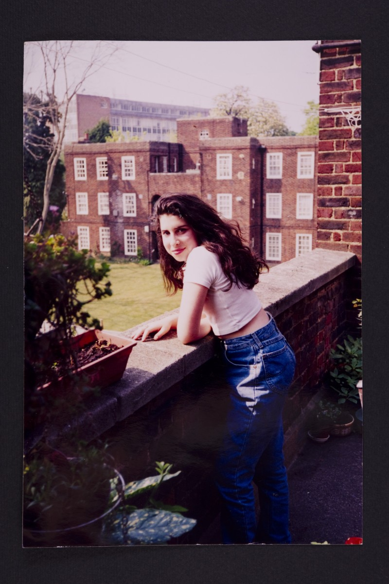 A young Amy outside her Grandma's flat in Southgate. Photo: The Winehouse family