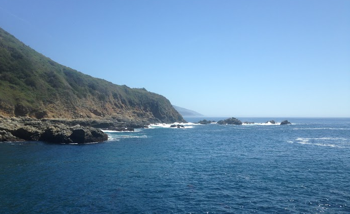 "The ""I'm in the ocean!"" view that greets you at the end of the Partington Cove trail"