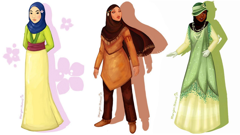 bay area artist reimagines disney characters with the hijab kqed pop kqed arts