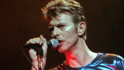 David Bowie performing in Hartford, Conn., in 1995.
