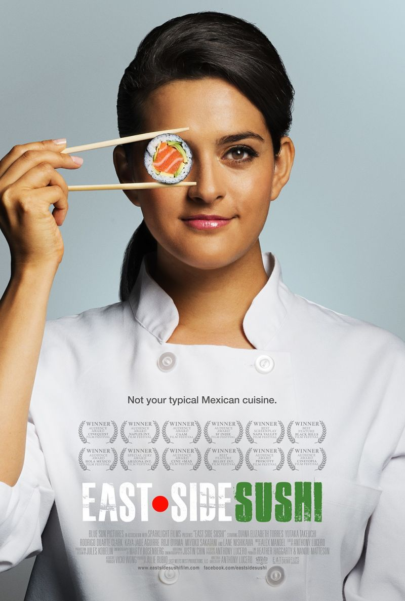Diana Elizabeth Torres on the poster for 'East Side Sushi.'