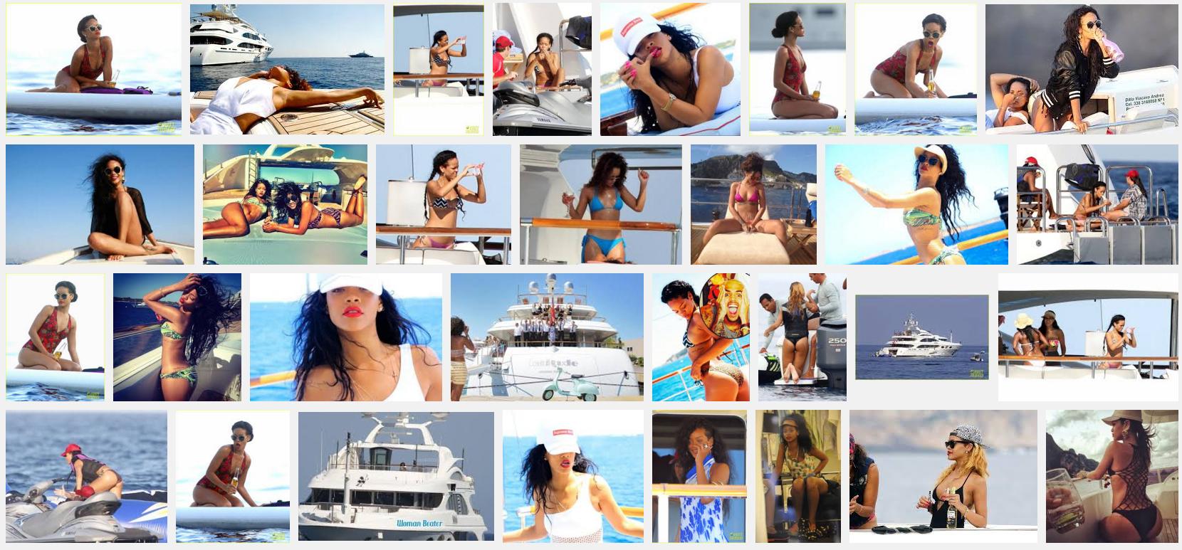 rihanna on yacht