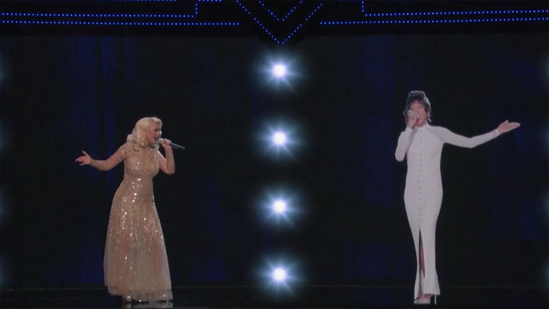 There's a Reason Why This Creepy Duet Between Christina Aguilera and a Whitney Houston Hologram Was Axed from The Voice