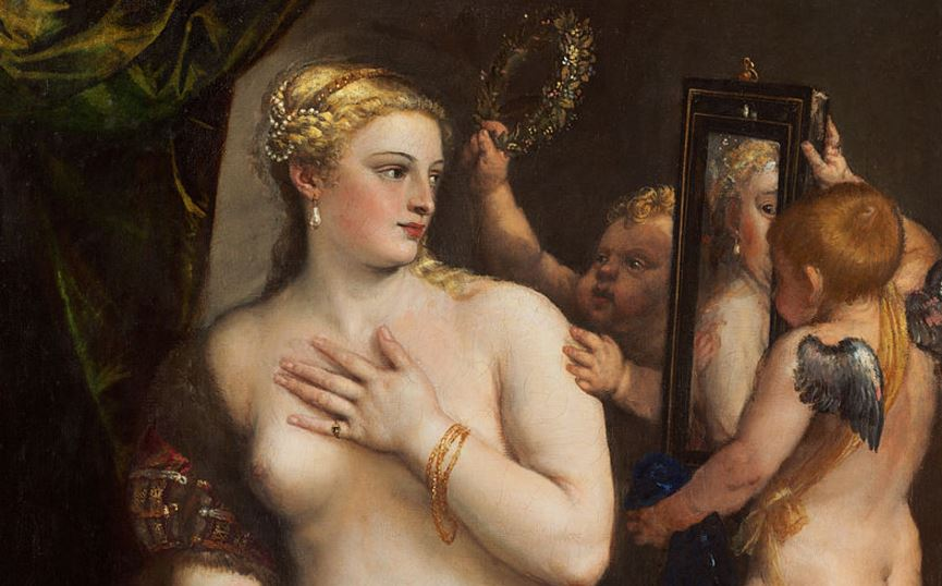 Titian's Venus With a Mirror, 1555.
