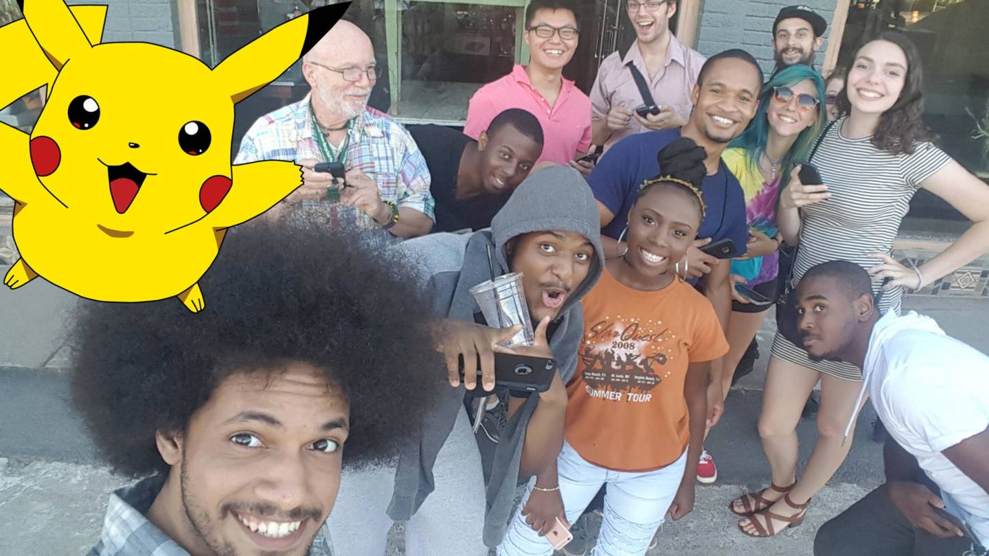 Pokémon Go brings complete strangers together in the real world, instead of arguing with each other on the internet. (Photo via Reddit user Paddy32)