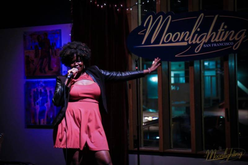 Luna Malbroux performing at Moonlighting SF.