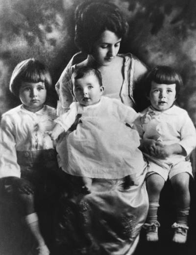 Rosemary as a baby, flanked by her older brothers Joe Jr. and John.