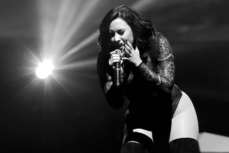 "Demi Lovato performs at the Boston stop of her ""Future Now"" tour."