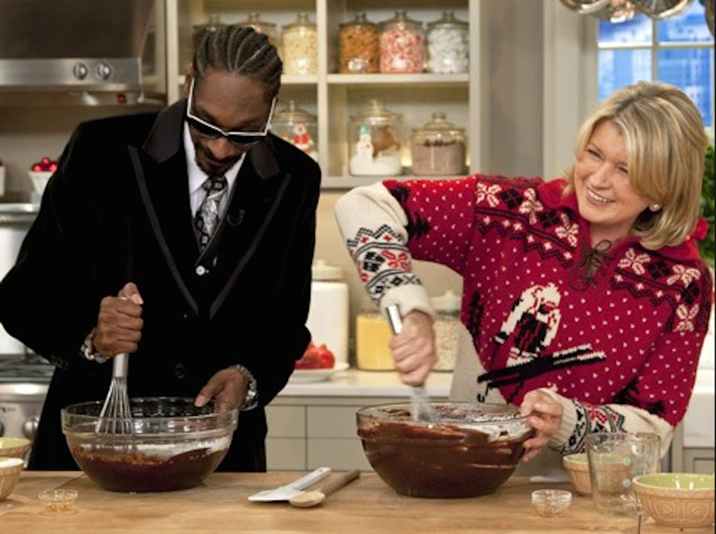 In Which We Are Vaguely Depressed About Snoop Dogg and Martha Stewart's Cooking Show