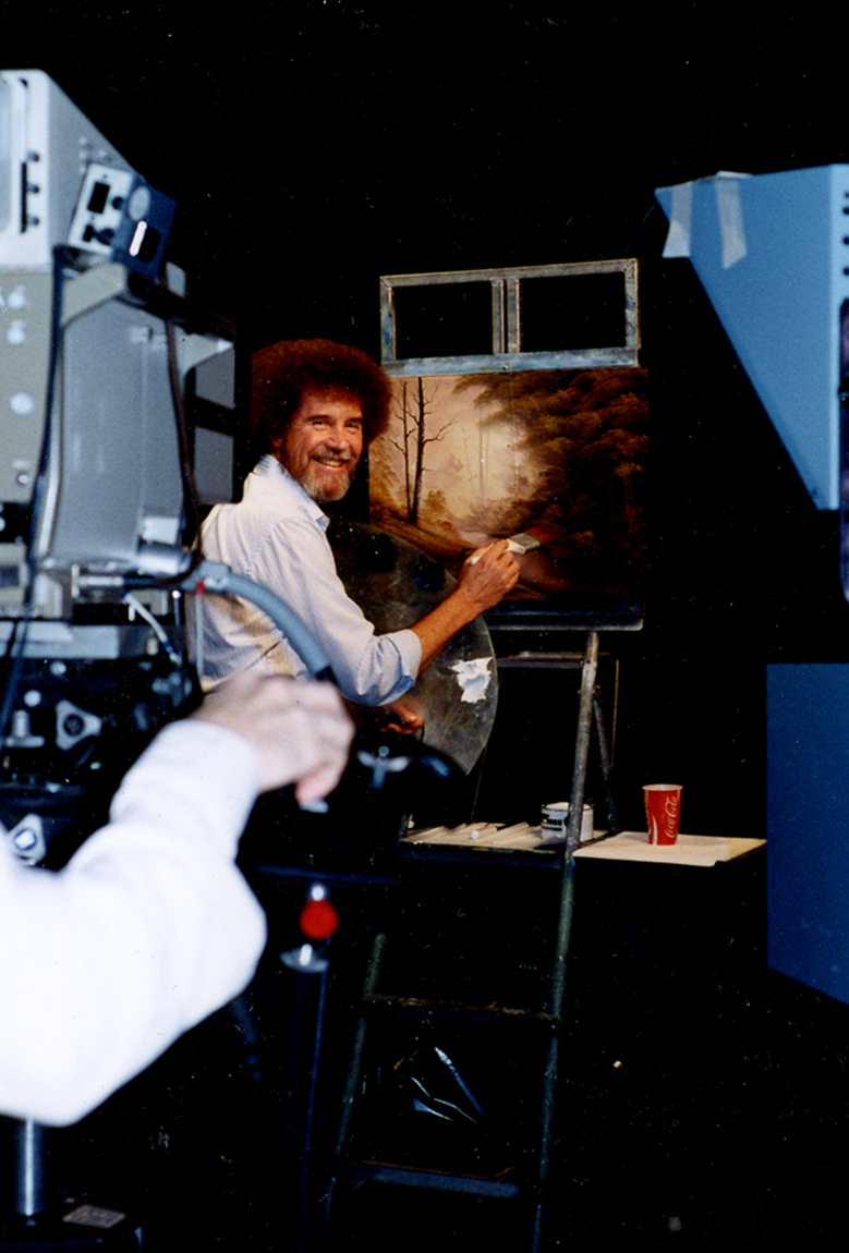 Ross filmed more than 400 episodes of The Joy of Painting. He actually painted three different versions of each work for every show — but viewers only saw one on-screen.