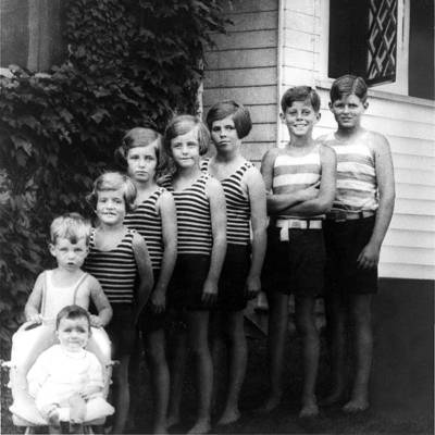 Rosemary (third from the right) and her siblings.