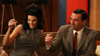 Jessica Pare and Jon Hamm in Mad Men. (Photo: Michael Yarish/AMC)