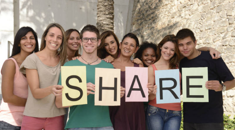 "A diverse group of millennials putting the ""share"" back in ""sharing economy"""