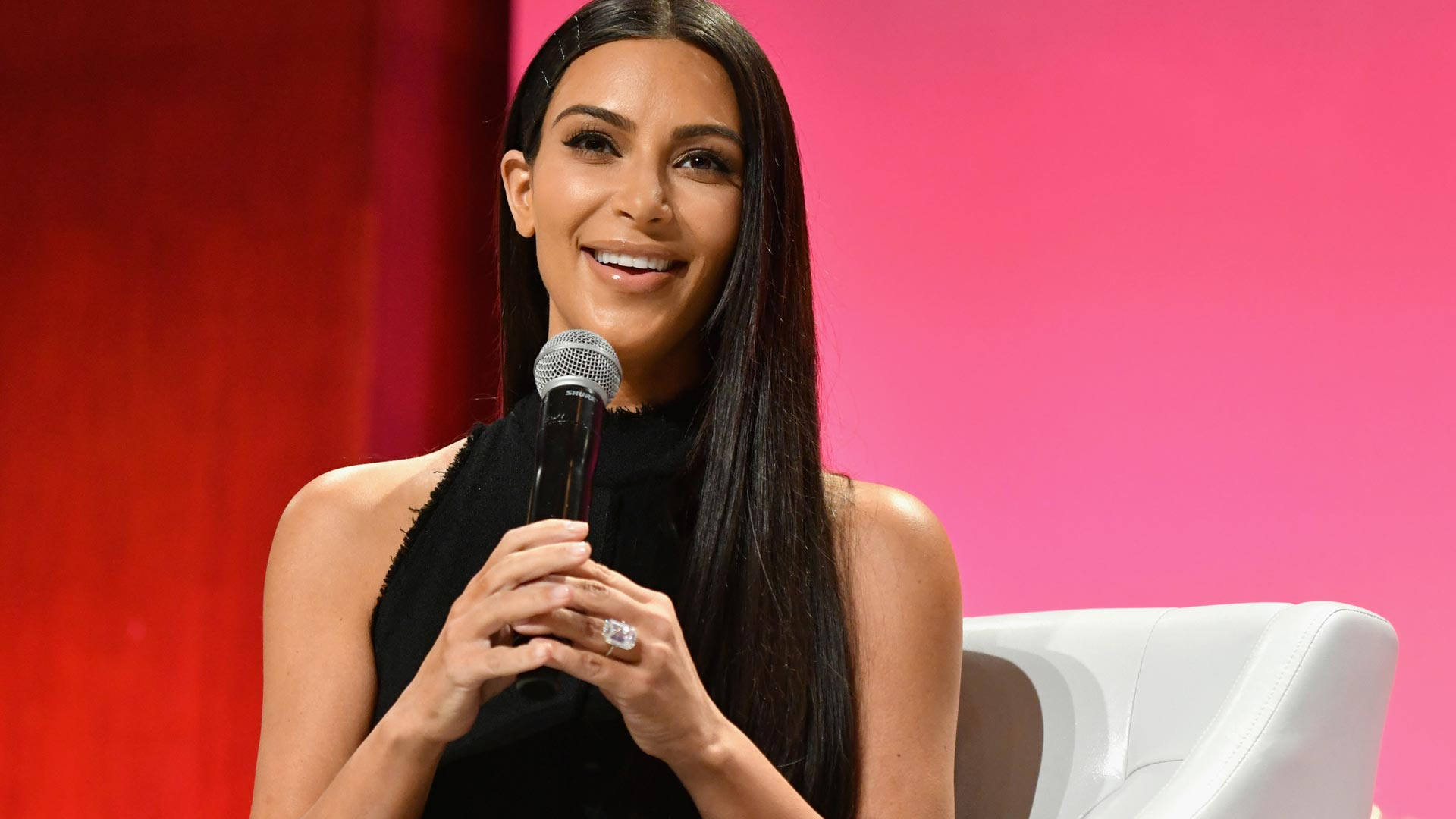 Kim Kardashian-West speaks at The Girls' Lounge dinner, giving visibility to women at Advertising Week 2016, at Pier 60 on September 27, 2016 in New York City.