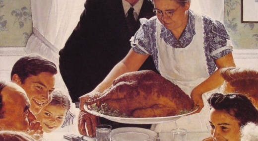 Detail from Norman Rockwell's 'Freedom from Want,' a.k.a. a Thanksgiving without anybody yelling about Donald Trump.