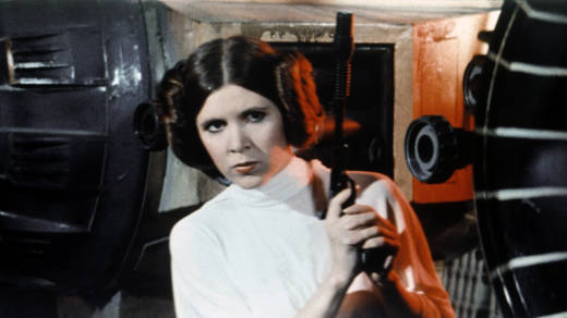 "Carrie Fisher appears as Princess Leia in the first Star Wars film. ""I like Princess Leia,"" Fisher tells Fresh Air. ""I like how she handles things; I like how she treats people."""