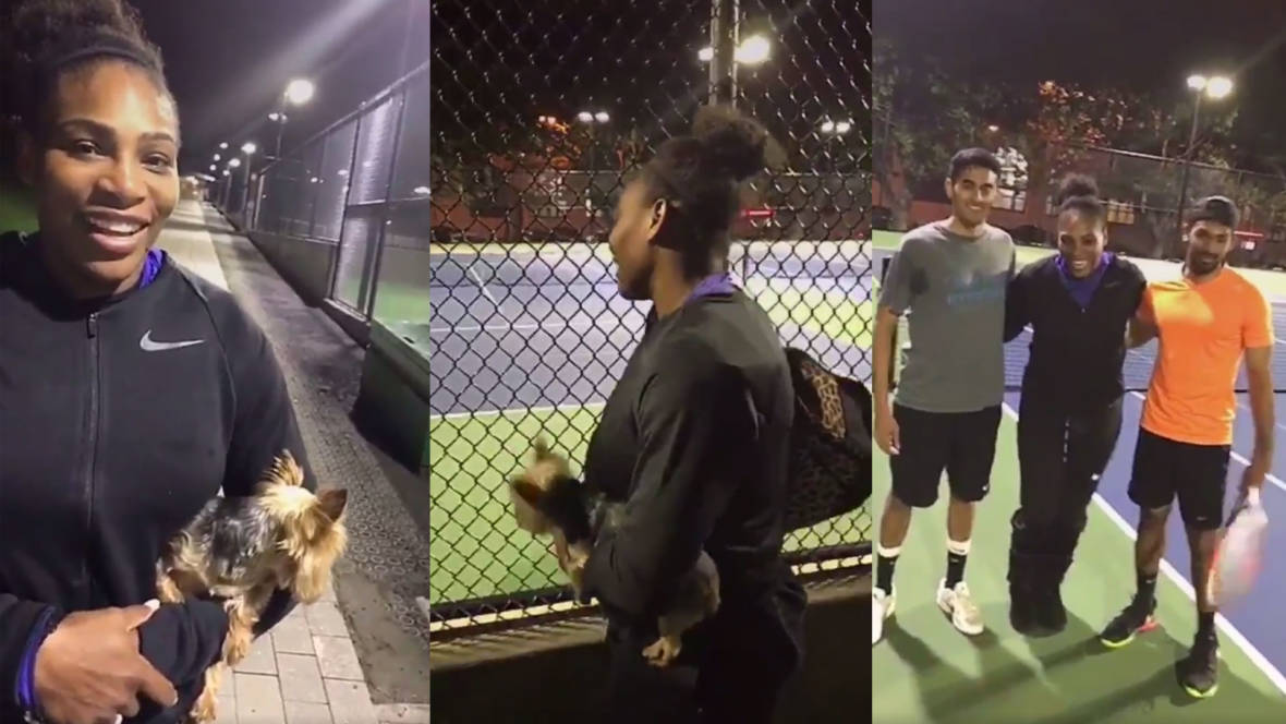 Serena Williams Surprises Tennis Players in Dolores Park, Plays Set Wearing Fuzzy Boots Like a Boss