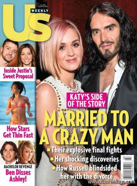 Katy Perry and Russell Brand in US Weekly.