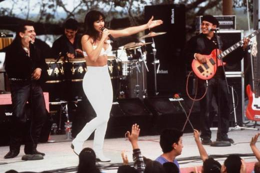Jennifer Lopez plays singer Selena Quintanilla Perez in the 1997 film Selena.