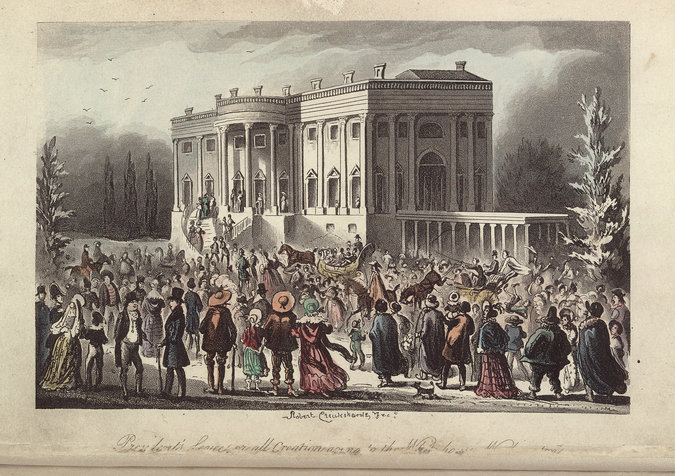 Jackson's inauguration rager. Photo: Library of Congress.