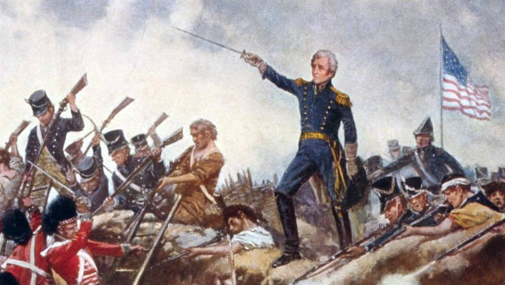 Andrew Jackson leading an underdog victory against the Brits in the Battle of New Orleans. Photo: Library of Congress