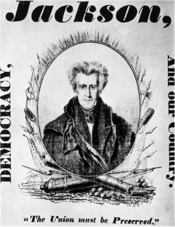 A 1828 Jackson poster.